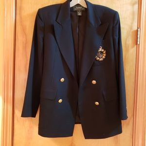 Ralph Lauren double-breasted black blazer size 4